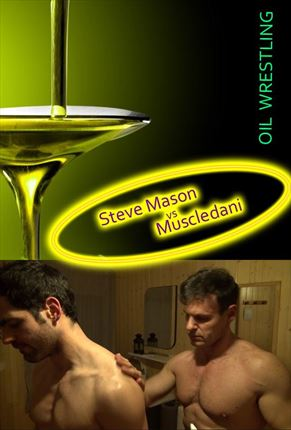 Steve Mason vs Muscledani OIL WRESTLING